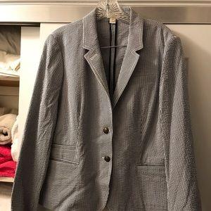 J Crew seersucker jacket